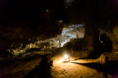Tourist speleology expedition in Thailand Royalty Free Stock Image