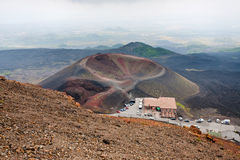 Tourist station Rifugio Sapienza on Etna Stock Photography