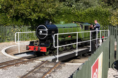 Tourist steam train turntable scarborough. Train turntable to change direction of royalty free stock images