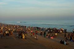 Tourist am Strand stockbild