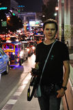 Tourist on the street of Bangkok. Royalty Free Stock Photos