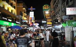 Tourist Street in Bangkok Royalty Free Stock Photo