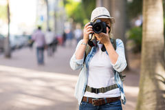 Tourist street photos Stock Photo