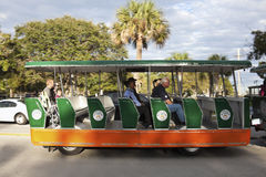 Tourist Street Tramway in St. Augustine Royalty Free Stock Images