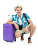 Tourist with suitcase Royalty Free Stock Photos