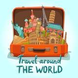 Tourist Suitcase Illustration Royalty Free Stock Photo