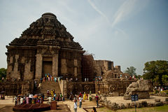 Tourist at Sun Temple, Konarak, India Royalty Free Stock Photography