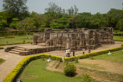 Tourist at Sun Temple, Konarak, India Royalty Free Stock Photo