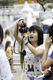 Tourist take a photo Royalty Free Stock Images