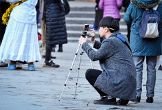 Tourist take photography Royalty Free Stock Image