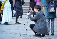 Tourist take photography Stock Images