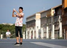 Tourist taking a photo Stock Photo