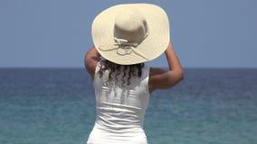 Tourist Taking Photo Of Ocean stock video