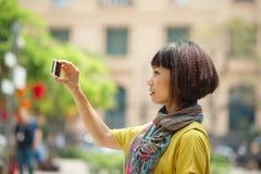 Tourist taking photo royalty free stock photos