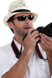 Tourist taking picture. Royalty Free Stock Photos