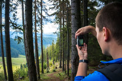 Tourist taking pictures Royalty Free Stock Images