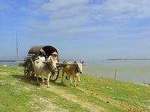 Tourist taxi in Mingun, Mandalay, Myanmar Стоковое Изображение