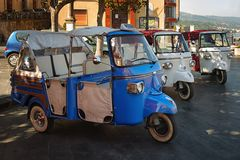 Tourist taxi. S in the south of Italy Royalty Free Stock Photo