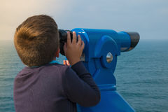 Tourist telescope Royalty Free Stock Images