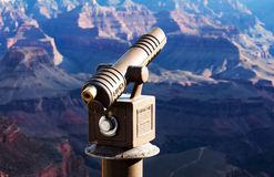 Tourist Telescope at the Grand Canyon Royalty Free Stock Image