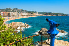 Tourist telescope. Lloret de Mar. Spain Royalty Free Stock Image