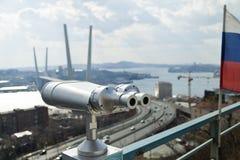 Tourist telescope Royalty Free Stock Photography