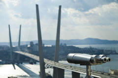 Tourist telescope Stock Photo