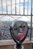 Tourist telescope overlooking New York Stock Photos