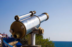 Tourist telescope at sea coast Royalty Free Stock Images