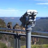 Tourist telescope. Royalty Free Stock Photo