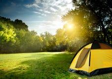 Tourist tent royalty free stock photo