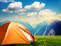 Tourist tent camping Stock Photography