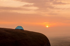 Tourist tent on the hill Royalty Free Stock Photos