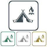 Tourist tent icon Royalty Free Stock Photos