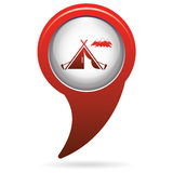 Tourist tent icon Stock Photo
