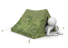 Tourist in tent - Leisure Royalty Free Stock Images