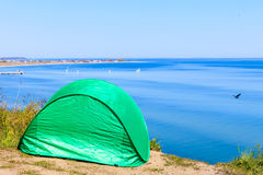 Tourist tent in nature area. Stock Image