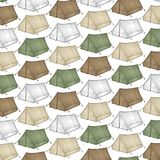 Tourist tent for travel and camping background Royalty Free Stock Photo