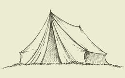 Tourist tent. Vector drawing Stock Photo
