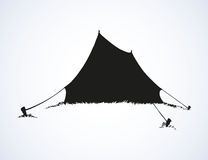 Tourist tent. Vector drawing Royalty Free Stock Image