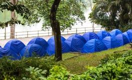 Tourist tents Stock Photo