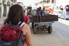 Tourist in Toliara, Madagascar Stock Image