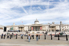 Tourist in Trafalgar Square Royalty Free Stock Photo