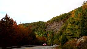 Tourist traffic near Camden, Maine stock video