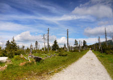 Tourist Trail in Mountains Royalty Free Stock Images