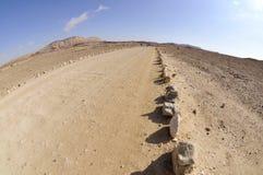 Tourist trail in Negev desert. Royalty Free Stock Photos
