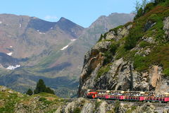 Tourist train. In the mountains of France Royalty Free Stock Photos
