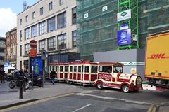 Tourist train in the center of Dublin Royalty Free Stock Images