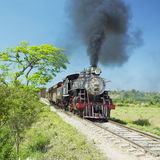 Tourist train in Cuba Royalty Free Stock Images