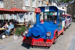 Tourist train in historic centre La Roche-en-Ardenne in Belgian Stock Image